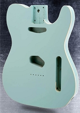 Lightweight Double Bound Telecaster Style Body Daphne Blue