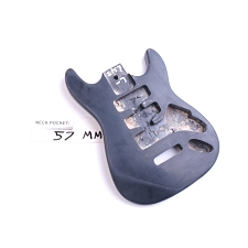 "Satin Finished, Black, ""Mini Stratocaster Style"" Body"