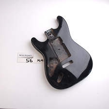 "Gloss Finished, Black, ""Stratocaster Style"" Body, Swimming Pool Rout - LEFTY"