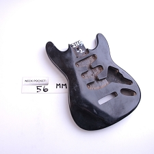 "Gloss Finished, Black, Mini ""Stratocaster Style"" Body - SSS"