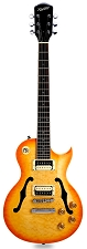 XV-550 Semi-Hollow carved Top- Solid Maple Top-Lemon Drop Quilt - Old Headstock