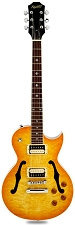 XV-550 Semi-Hollow carved Top- Solid Maple Top-Lemon Drop Quilt - Blem