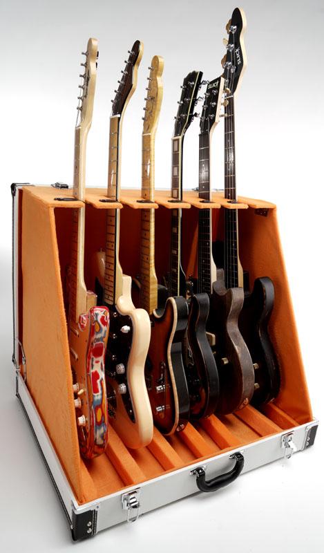Premium Quot White Levant Quot 6 Guitar Case Folds To Briefcase