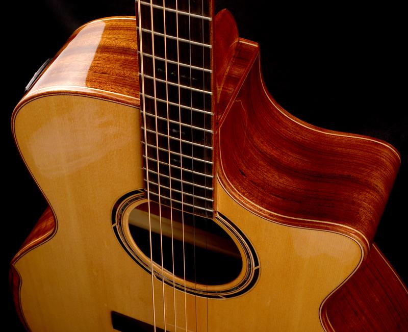 xaviere all wood premium cutaway acoustic  electric black