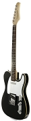 XV840 Solid Alder DOUBLE Bound Body, Gloss Black, Rosewood Fingerboard