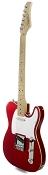 XV840 Solid Alder DOUBLE Bound Body, Candy Apple Red, Maple Fingerboard