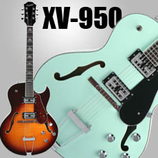 Xaviere XV-950 Rockabilly Hollowbody Guitars