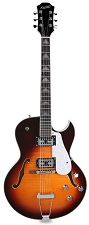 XV-950 Hollowbody GFS Retrotrons, Flamed Maple Vintage Sunburst - Blem