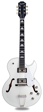 XV-950 Hollowbody GFS Retrotrons, Maple Construction Arctic White/Chrome