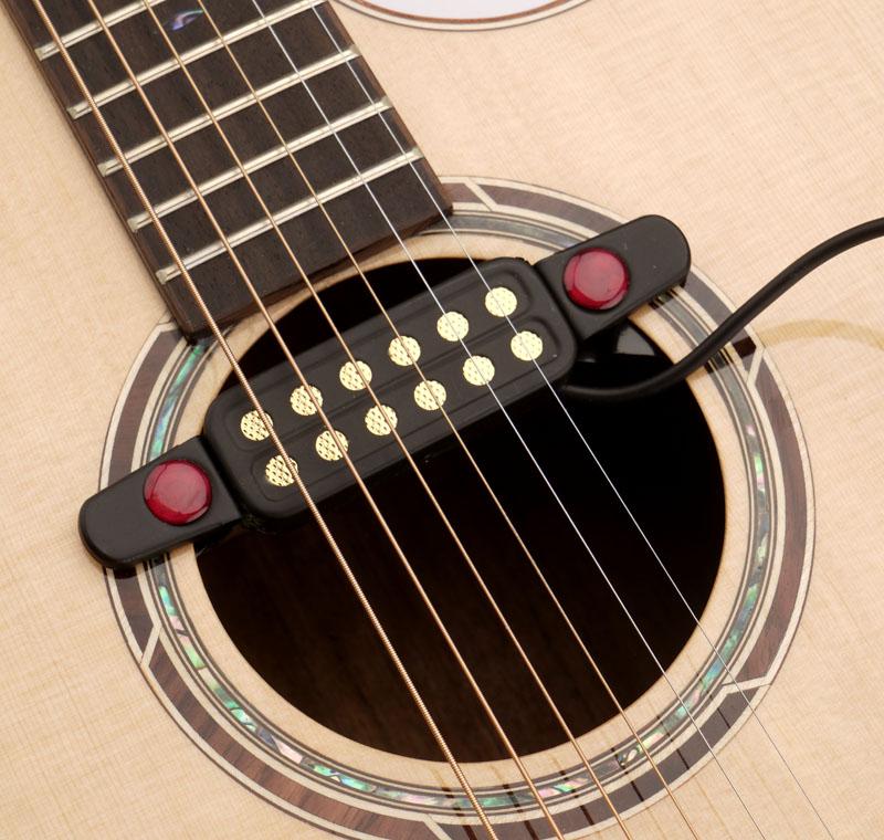 Clip On Guitar Tuner >> Gold Foil clip-on soundhole Magnetic Pickup