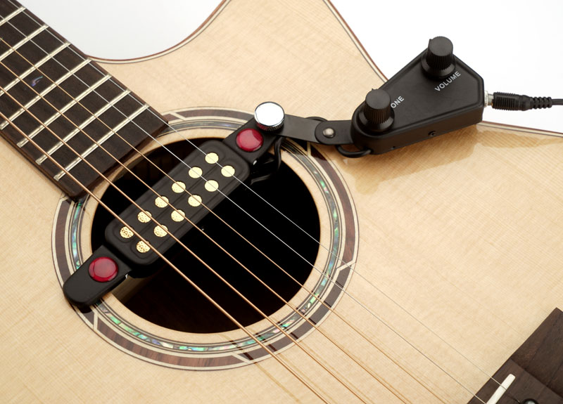 Clip On Guitar Tuner >> Gold Foil clip-on soundhole Magnetic Pickup with Volume/Tone