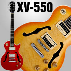 XV-550 Series SOLID Carved Maple Semi Hollow Highly Figured Quilt Tops