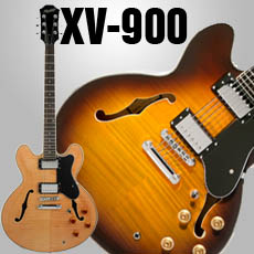 XV-900 Semi Hollowbody Flame Maple Alnico Fat Pats