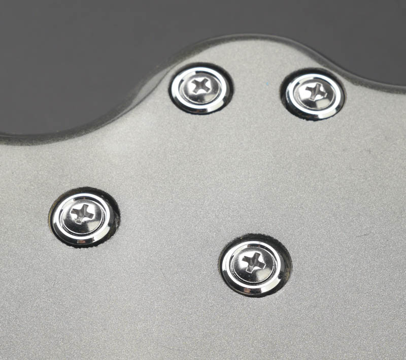 Neck Screws With Mounting Bushings Complete Set Chrome