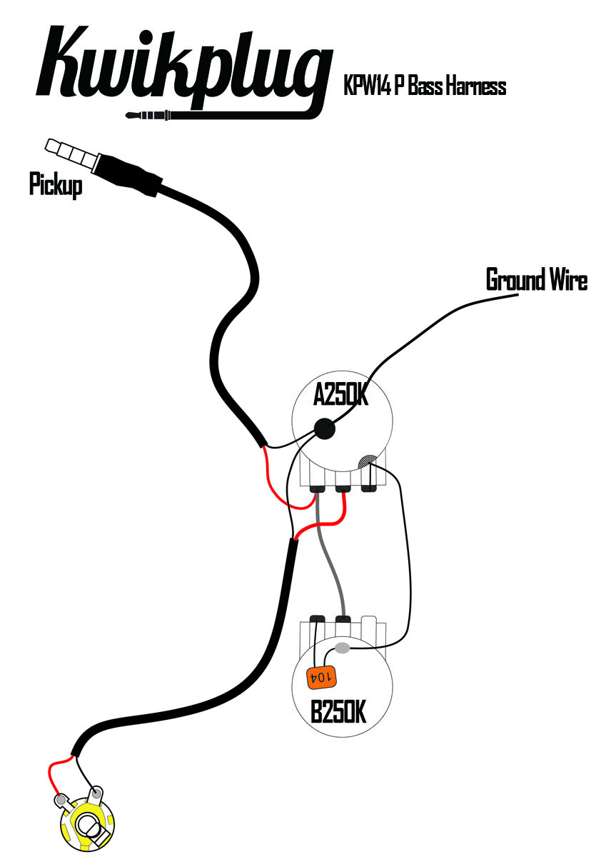 kwikplug p bass wiring harness pre soldered drop in. Black Bedroom Furniture Sets. Home Design Ideas