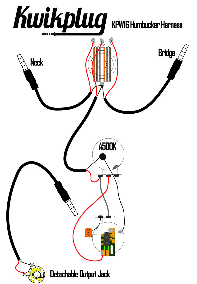 kwikplug universal two humbucker wiring harness