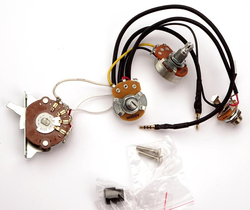 kwikplug tele style humbucker wiring harness pre soldered drop in