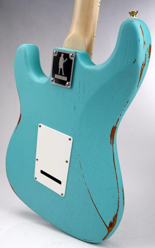 Slick Sl57 Aged Daphne Blue Maple Fingerboard Alnico Pickups