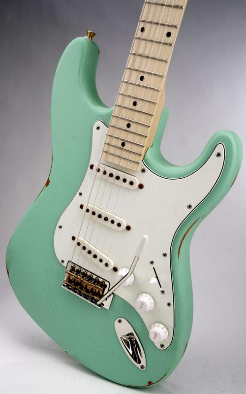 Slick Sl57 Aged Surf Green Solid Ash Maple Fingerboard