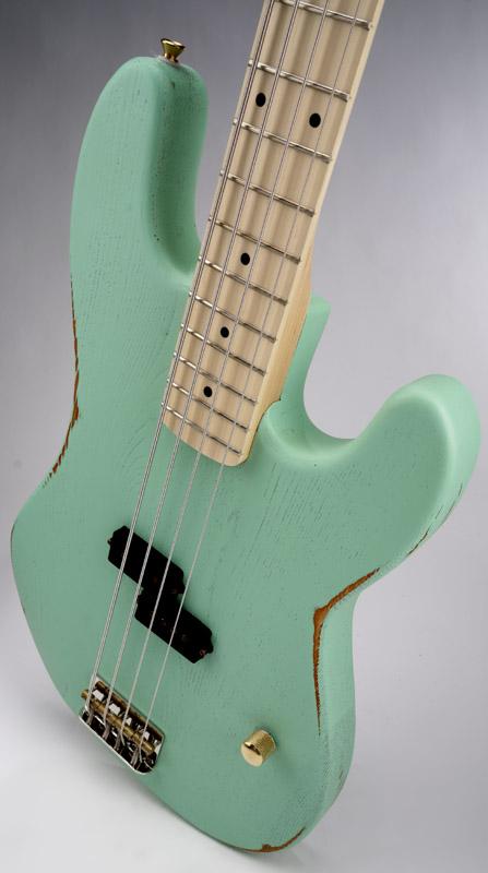 surf green slick slpb solid ash bass guitar maple fingerboard slick alnico pickup. Black Bedroom Furniture Sets. Home Design Ideas