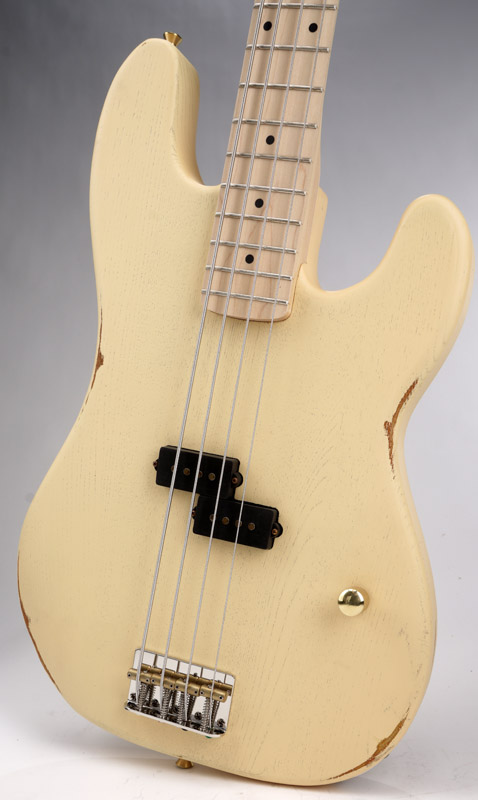 Gibson Guitars For Sale >> Vintage Cream Slick SLPB Solid Ash Bass Guitar Maple ...