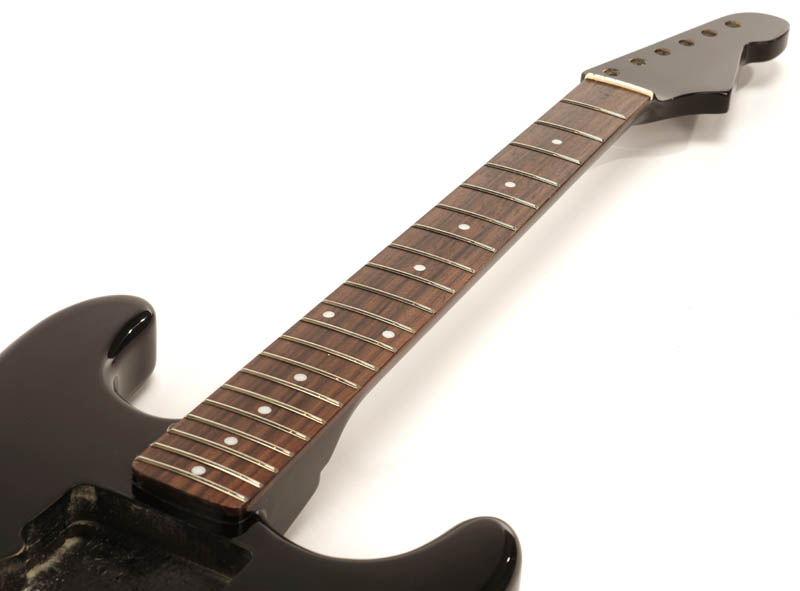 special purchase black strat style glued in setneck