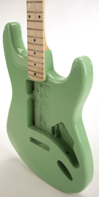 special purchase surf green strat style glued in setneck