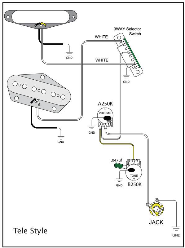 Correct Telecaster Wiring Diagram