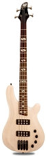 DLX Bass Active Preamp, Carved Body, See-Through White, 24 Fret