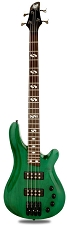 DLX Bass Active Preamp, Carved Body, Transparent Green