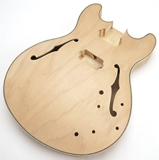 FF Series ES-335 style Long Tenon Maple Body with Binding