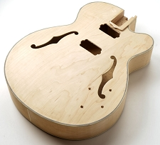 FF Series Full Sized HOLLOW Body All Laminated Maple, Bound F Holes