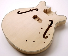 FF Series ES-335 style Long Tenon Maple Body with Binding smaller Hofner style