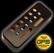 KP - GFS Gold Foil Single Coil Ferrite Soapbar, Black - Kwikplug® Ready