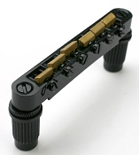 XGP Import fit Black Tuneomatic Bridge- BRASS Saddles- OUR BEST!
