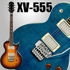 XV-555 Double Locking Tremolo Carved Top LP