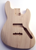 Jazz Bass Body No Finish Solid ASH