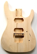 """Dinky"" style HH body cut for Floyd Rose Trem. Solid Poplar No Finish.- Blem"