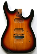 """Dinky"" style HH body cut for Floyd Rose Solid Poplar Vintage Sunburst"