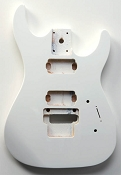 """Dinky"" style HH body cut for Floyd Rose Solid PoplarArctic White Gloss. - Blem"