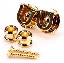 All New- GOLD Schaller Style locking Strap Button System