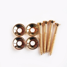 Neck Screws with Mounting Bushings complete set - Gold