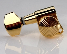 LEFTY STAGGERED Gotoh Style Locking Tuners- Sperzel Style- GOLD