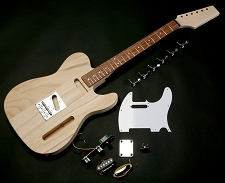 Super Lightweight Tele Style kit with Rosewood OR Maple!