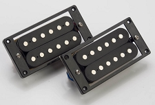 Pair of open ceramic Humbuckers for LP black rings