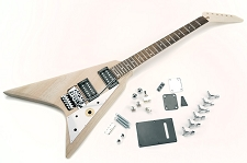 Solid MAHOGANY Offset V Kit- Floyd Rose Style Locking Tremolo