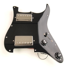 Wired Strat Two Chrome Humbuckers, Black/White/Black guard
