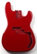 P Bass Lightweight Body Rocket Red Finish