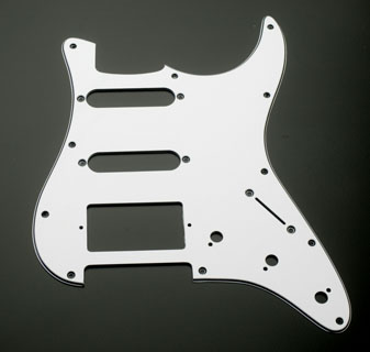 Used Clothing Wholesale >> White/Black/White HSS Pickguard fits Strat