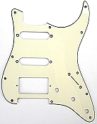"Strat Pickguard cut for Humbucker, 2 Singles ""1964 Aged White"""